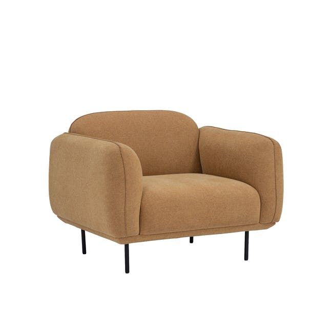 Miura Armchair - Turmeric (Easy Clean Fabric) - 1