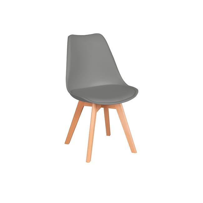 Linnett Chair - Natural, Grey - 0