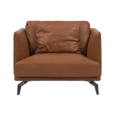 (As-is) Como 1.5 Seater Sofa - Brown (Genuine Cowhide), Down Feathers - 1 - Image 1