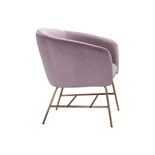 Galen Lounge Chair - Rose (Velvet) - 2