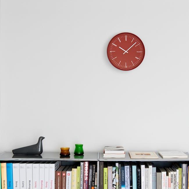 Draw Wall Clock (Flat) -Red - 1
