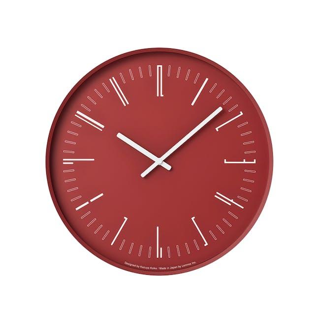 Draw Wall Clock (Flat) -Red - 0