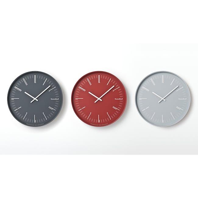 Draw Wall Clock (Flat) -Red - 2