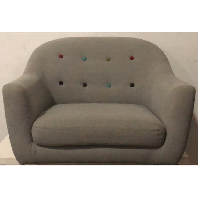 (As-is) Arden Armchair- Rose Gold, Slate -1 - 3
