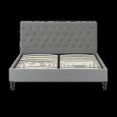 Lennon Headboard Bed - Grey- 4 sizes - Image 1