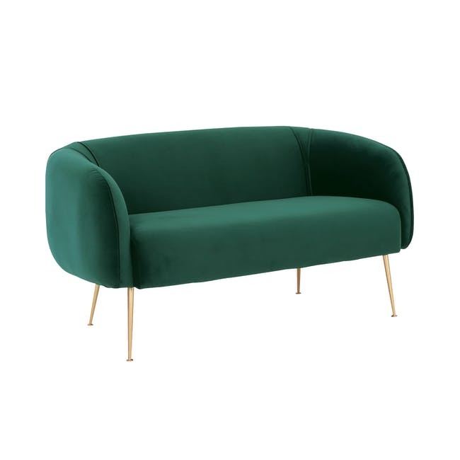 Alero 2 Seater Sofa - Dark Green (Velvet) - 1