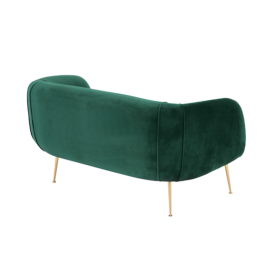 Laholm - Alero Loveseat - Dark Green (Velvet)
