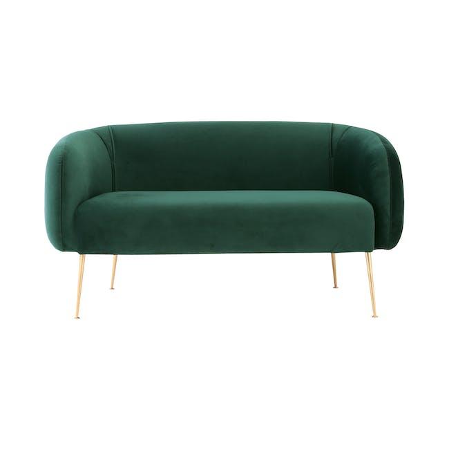 Alero 2 Seater Sofa - Dark Green (Velvet) - 0