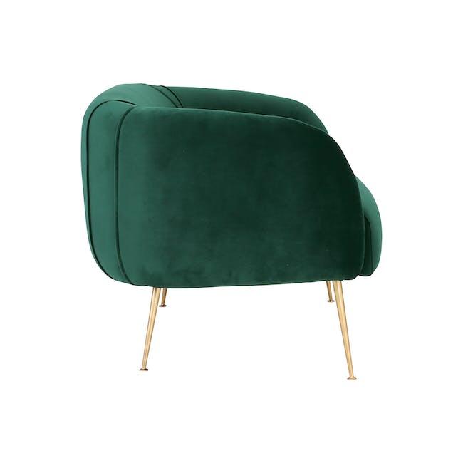 Alero 2 Seater Sofa with Alero Armchair - Dark Green - 9
