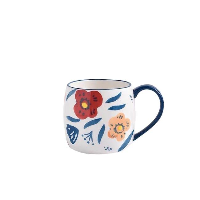 Table Matters Poppy Blossom Hand Painted Mug - 0