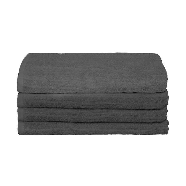 EVERYDAY Bath Towel - Charcoal (Set of 4) - 0