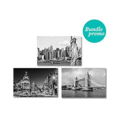 Monochrome City Print Poster Bundle
