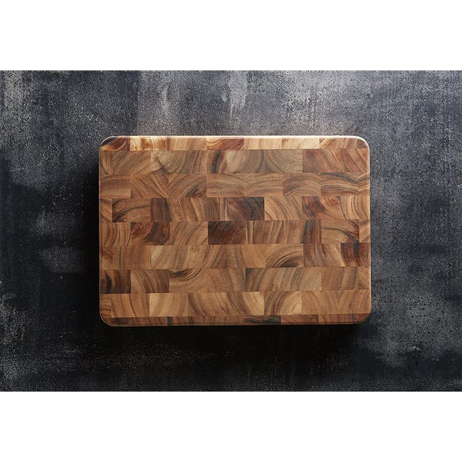 Ironwood Large End Grain Prep Station Acacia Wood Cutting / Serving Board - 3