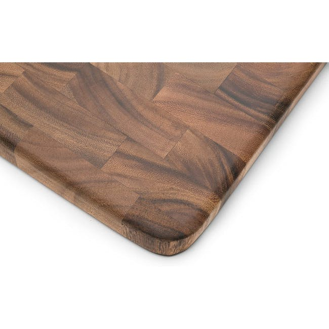 Ironwood Large End Grain Prep Station Acacia Wood Cutting / Serving Board - 5