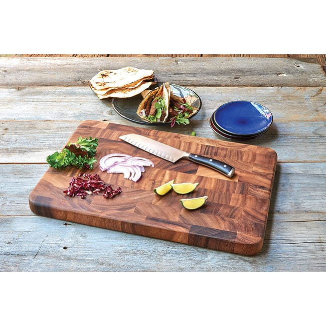 Ironwood Large End Grain Prep Station Acacia Wood Cutting / Serving Board - 1