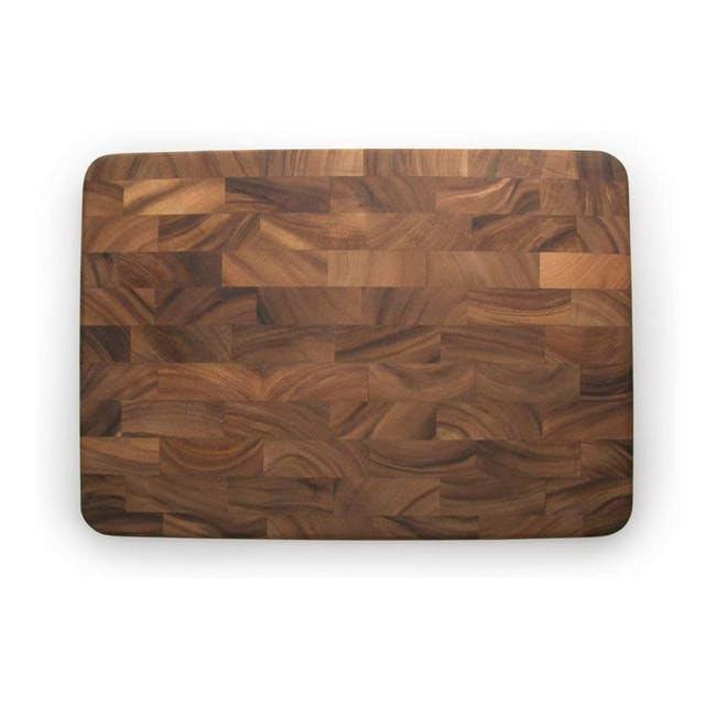 Ironwood Large End Grain Prep Station Acacia Wood Cutting / Serving Board - 0