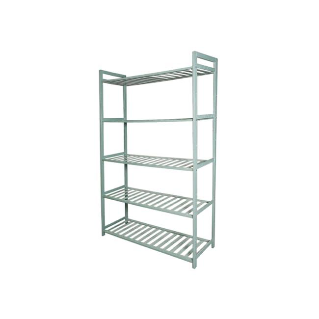 Ecohouze 5 Tier Bamboo Storage Shelf 68cm - Green - 0