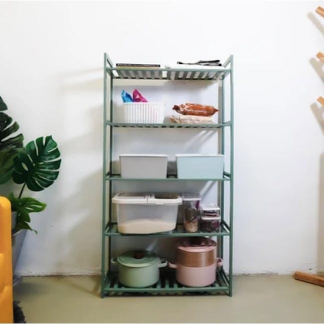 Ecohouze 5 Tier Bamboo Storage Shelf 68cm - Green - 1