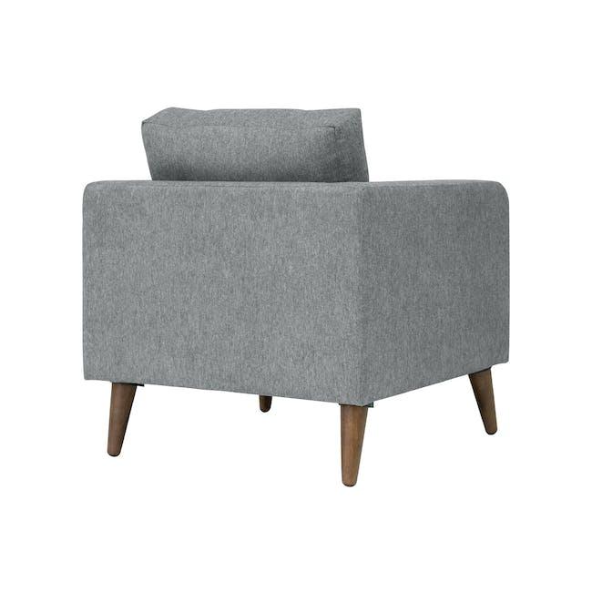 Bennett 2 Seater Sofa with Bennett Armchair - Gray Owl - 4