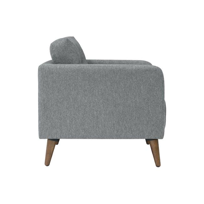 Bennett 2 Seater Sofa with Bennett Armchair - Gray Owl - 5