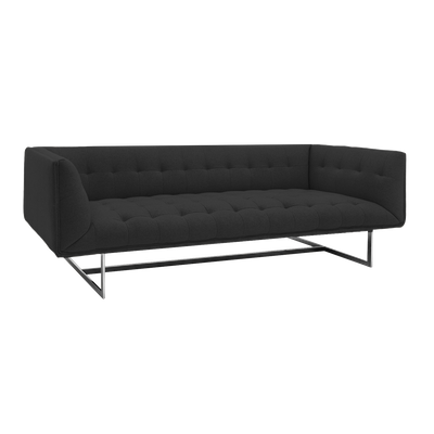 Edward 3 Seater Sofa - Dark Grey Cashmere - Image 2