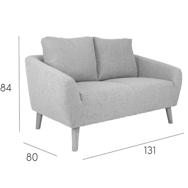 Hana2 Seater Sofa - Charcoal - 11