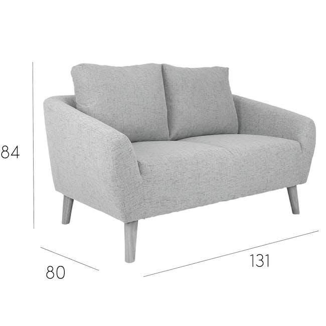Hana 2 Seater Sofa with Hana Armchair - Light Grey - 17