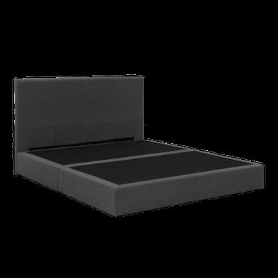 ESSENTIALS Headboard Box Bed - Smoke (Fabric)- 4 Sizes - Image 2