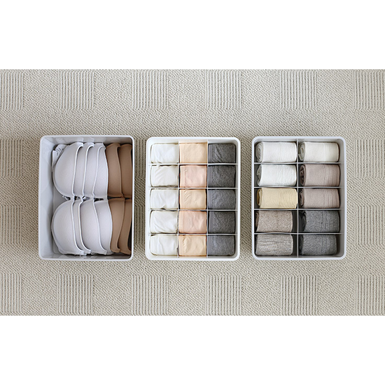 1688 - Paxton 15 Compartment Box - Light Grey