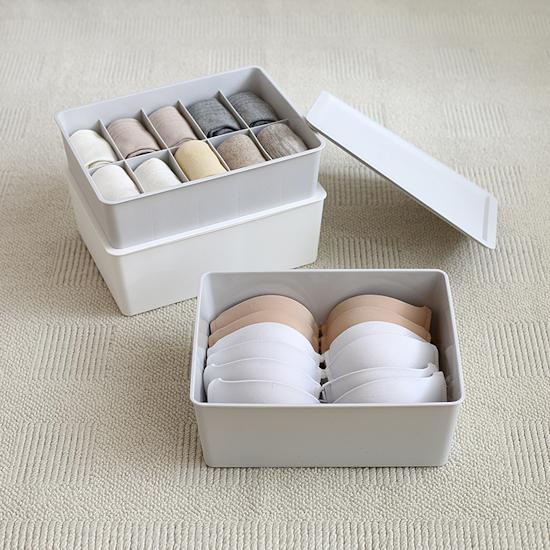 HipVan Bundles - Paxton Compartment Box (Set of 3) - Light Grey