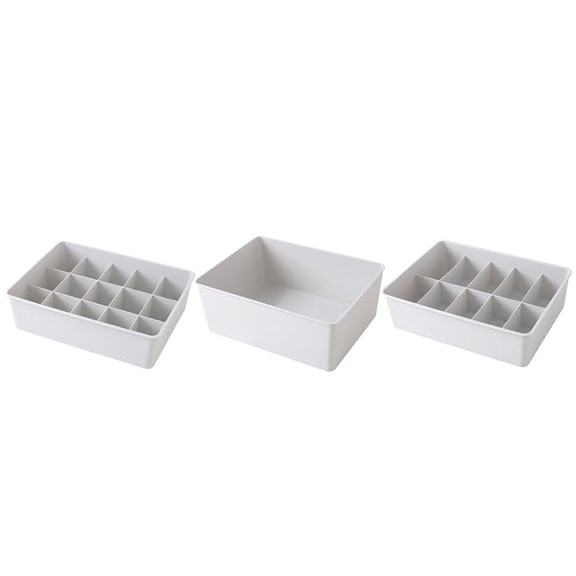Paxton Compartment Box (Set of 3) - Light Grey - 6