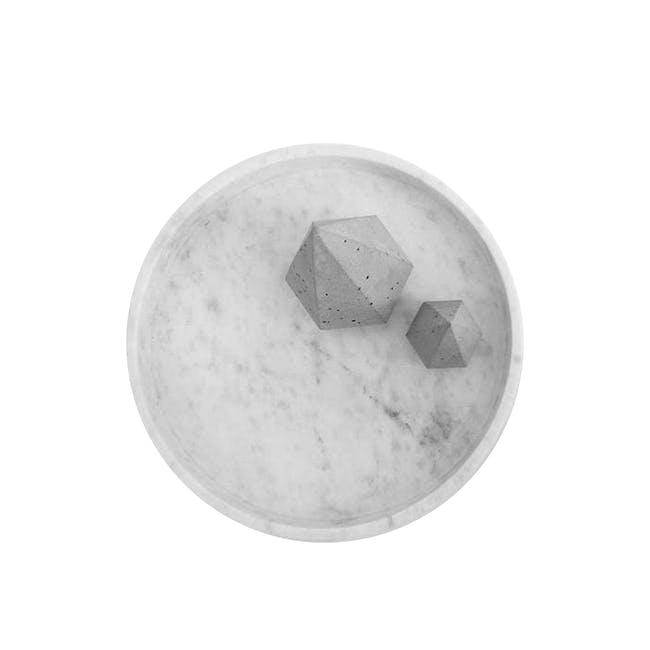 Minimalist Natural Marble Round Tray - 0