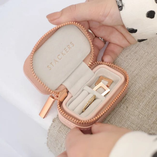 Stackers Petite Travel Jewellery Box - Blush - 1