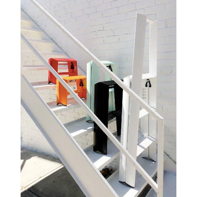 Hasegawa Lucano Aluminium 2 Step Stool - Red - 6