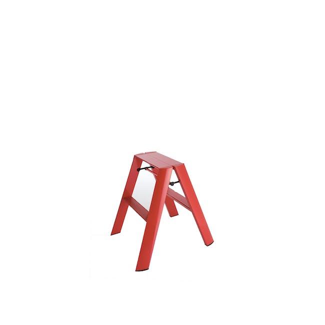 Hasegawa Lucano Aluminium 2 Step Stool - Red - 0