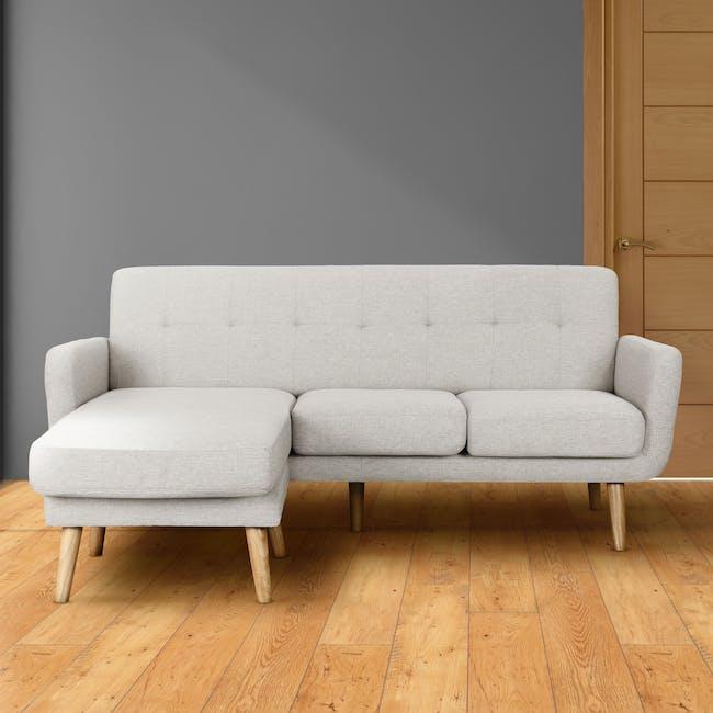 Cali L-Shaped Sofa - Sand - 1