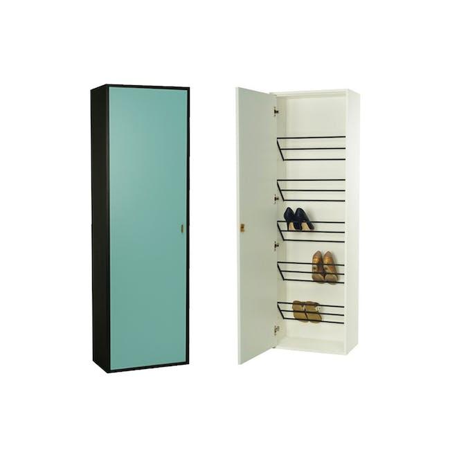 Taber Shoe Cabinet - Light Green - 0