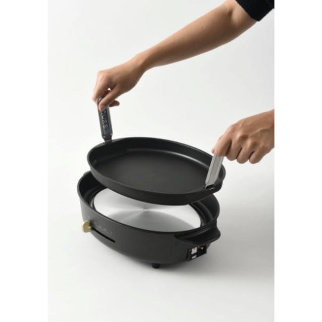 BRUNO Oval Hotplate - Black - 4