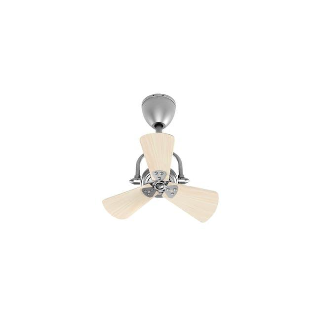 FIN6 Silver Light Oak Decor Fan - 16 inches - 0