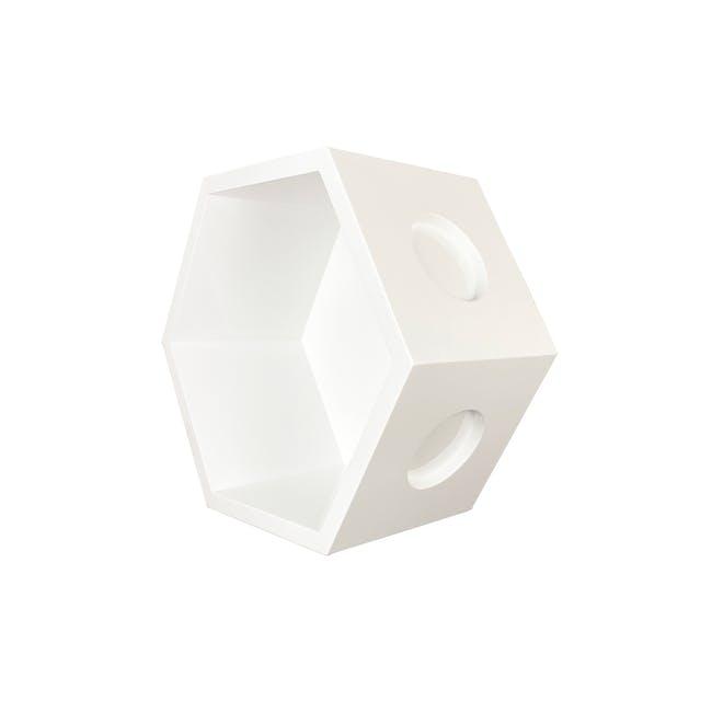 Acacia Block - White - 5
