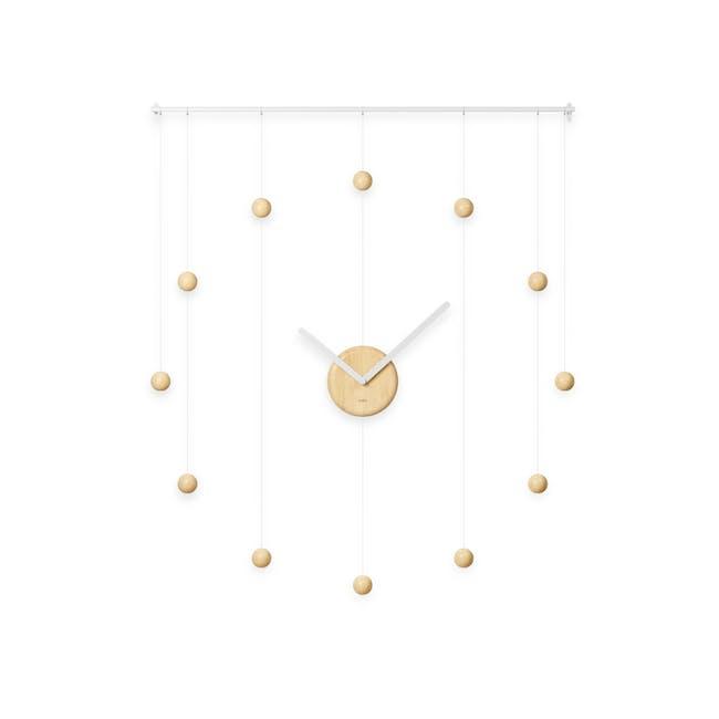 Hangtime Suspension Decorative Wall Clock - Natural - 0