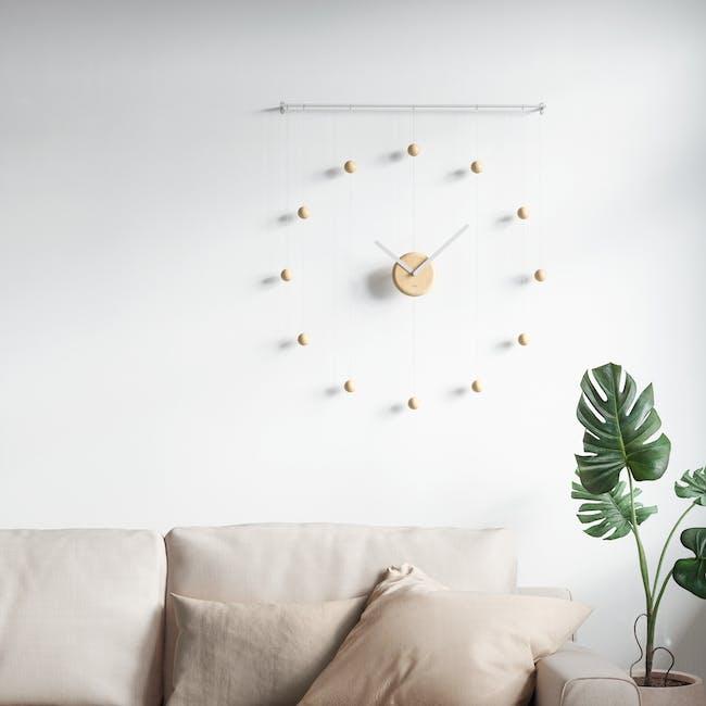 Hangtime Suspension Decorative Wall Clock - Natural - 8