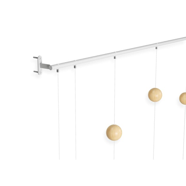 Hangtime Suspension Decorative Wall Clock - Natural - 5