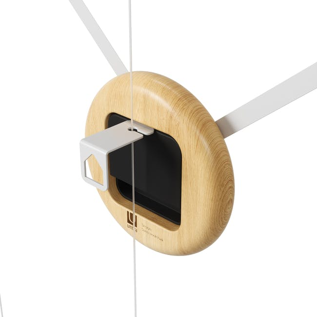 Hangtime Suspension Decorative Wall Clock - Natural - 4