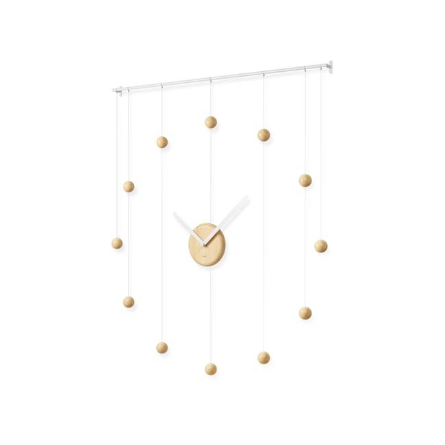 Hangtime Suspension Decorative Wall Clock - Natural - 1