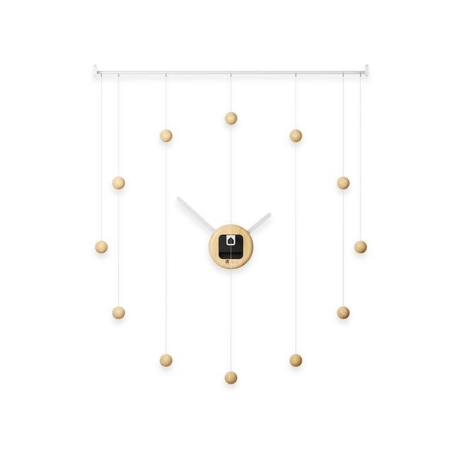 Hangtime Suspension Decorative Wall Clock - Natural - 2