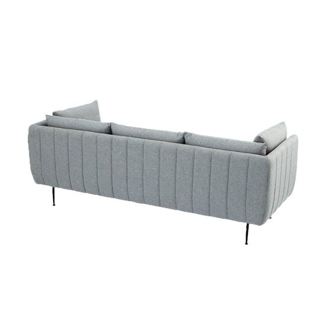 Esme 3 Seater Sofa - Silver (Fabric) - 1