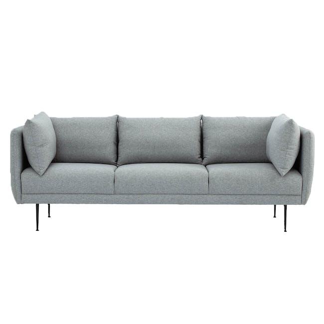 Esme 3 Seater Sofa - Silver (Fabric) - 0