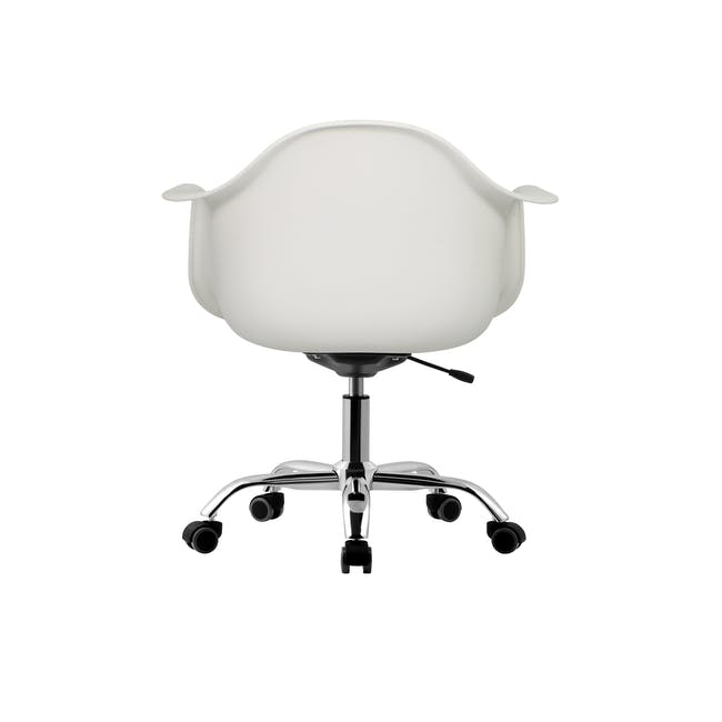 DAW Mid Back Office Chair - White - 3