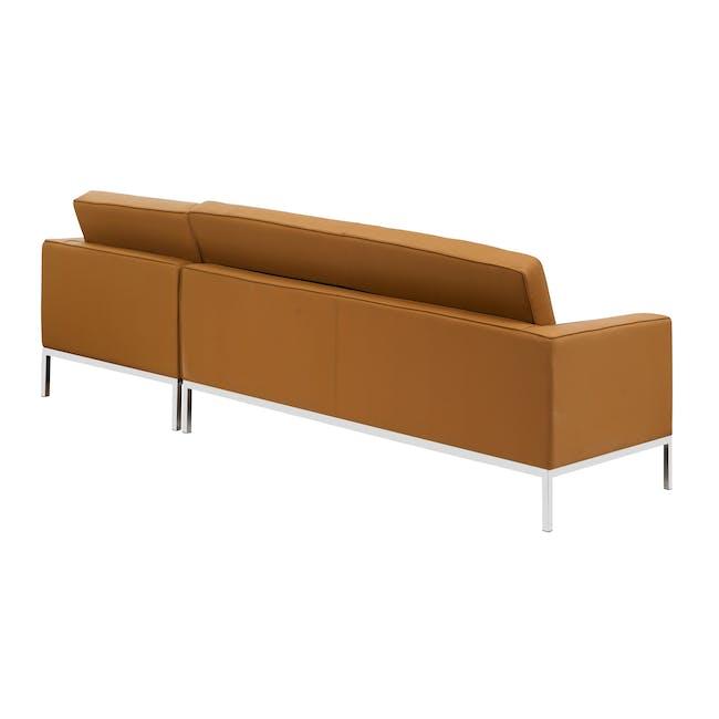 Florence Knoll L-Shaped Sofa Replica - Tan (Genuine Cowhide) - 3